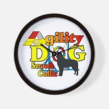 Smooth Collie Agility Wall Clock