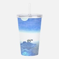 Polar Bear On Iceberg Acrylic Double-wall Tumbler