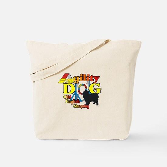 Old English Sheepdog Agility Tote Bag