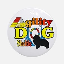 Sheltie Agility Round Ornament
