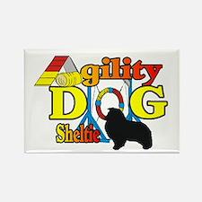 Sheltie Agility Rectangle Magnet (10 pack)