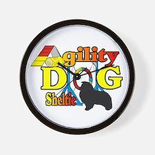 Sheltie Agility Wall Clock