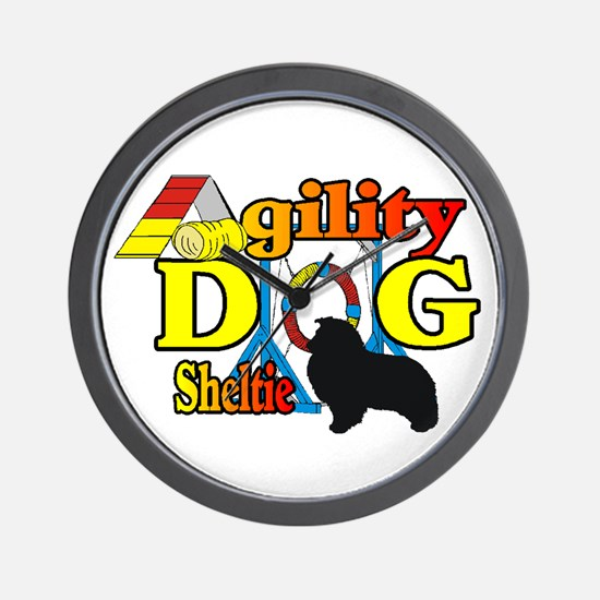 Sheltie Agility Wall Clock