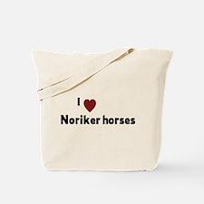 Noriker horses Tote Bag