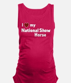National Show Horse Maternity Tank Top