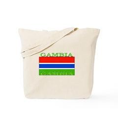 Gambia Gambian Flag Tote Bag
