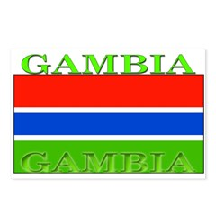 Gambia Gambian Flag Postcards (Package of 8)