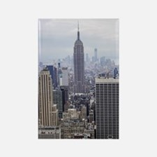 Cute New york city manhattan midtown uptown downtown sk Rectangle Magnet