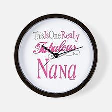 Fabulous Nana Wall Clock