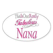 Fabulous Nana Oval Decal