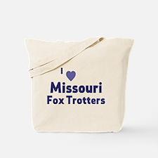 Missouri Fox Trotter horses Tote Bag