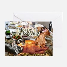 Happy Thanksgiving Dachshund Dogs Greeting Cards