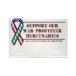 Support our War-Profiteer Mer Rectangle Magnet