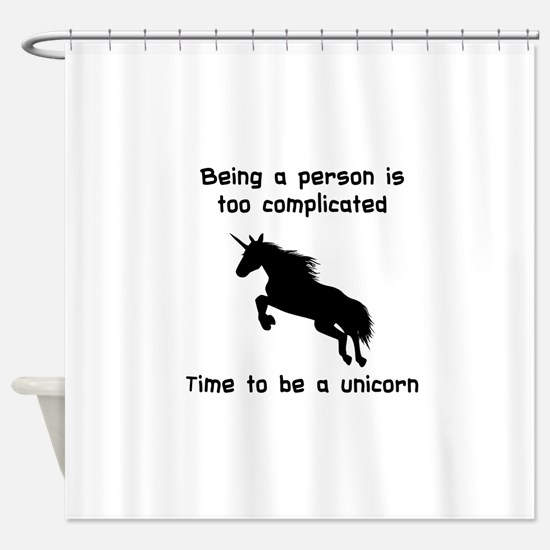 Unicorn time Shower Curtain