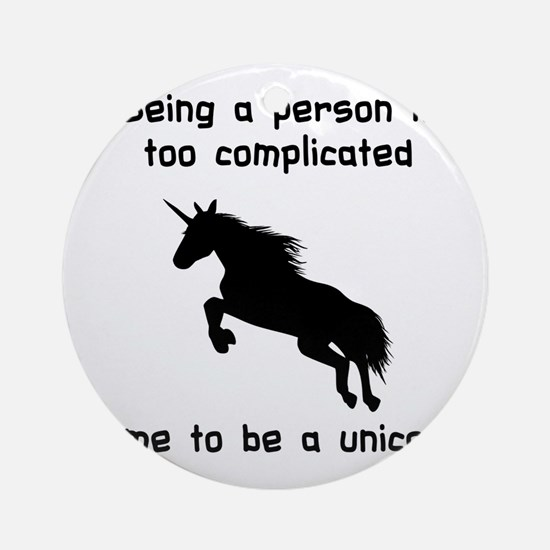 Unicorn time Round Ornament