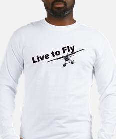 live to fly10x4_apparel copy Long Sleeve T-Shirt