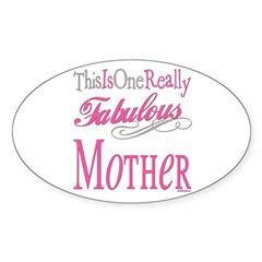 Fabulous Mother Oval Decal