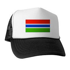 Gambia Blank Flag Trucker Hat