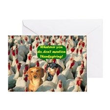 Thanksgiving Turkeys Dogs Greeting Card