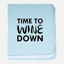 Time to Wine Down baby blanket