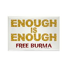 Enough Is Enough (Burma) 1.1 Rectangle Magnet