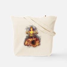 Flaming Skeleton Drumer Set 1 Tote Bag