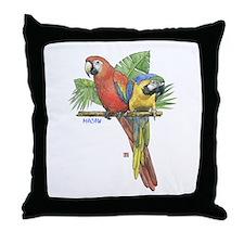 Tropical Macaws Throw Pillow