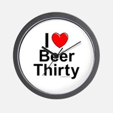Beer Thirty Wall Clock