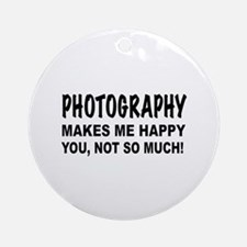 Cute Photographer Round Ornament