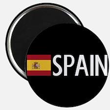 """Spain: Spanish Flag & Spain 2.25"""" Magnet (10 pack)"""