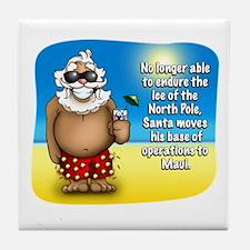 Santa's Relocated! Tile Coaster