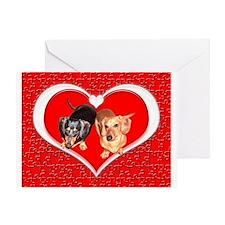 Love Dachshund Dogs Greeting Card
