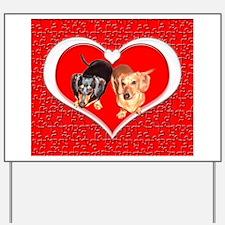 Love Dachshund Dogs Yard Sign