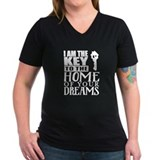 Real estate Womens V-Neck T-shirts (Dark)