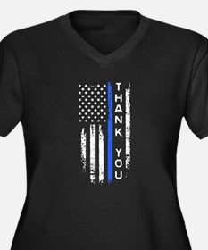 thin blue line thank you Plus Size T-Shirt