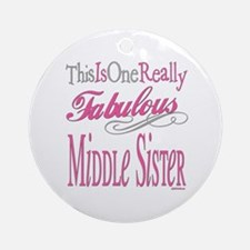 Middle SIster Ornament (Round)