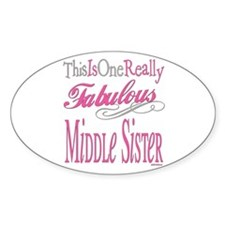 Middle SIster Oval Decal