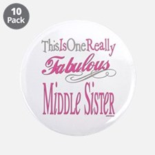 """Middle SIster 3.5"""" Button (10 pack)"""