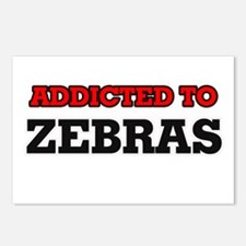 Addicted to Zebras Postcards (Package of 8)