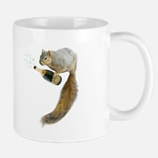 Squirrel Champagne Bubbles Mugs