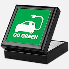 Go Green ~ Drive Electric Cars Keepsake Box