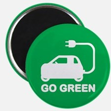 Go Green ~ Drive Electric Cars Magnets