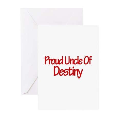 Proud Uncle of Destiny Greeting Cards (Pk of 10)