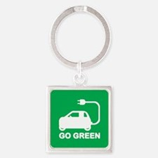Go Green ~ Drive Electric Cars Keychains