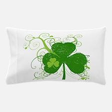 St Paddys Day Fancy Shamrock Pillow Case