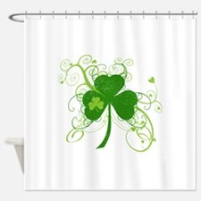 St Paddys Day Fancy Shamrock Shower Curtain