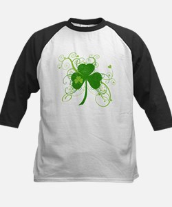 Cool St Patricks Day Shamrock Baseball Jersey