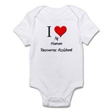 I Love My Human Resources Assistant Infant Bodysui