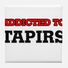 Addicted to Tapirs Tile Coaster