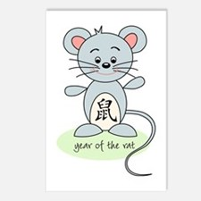 Year Of Rat Postcards (package Of 8)